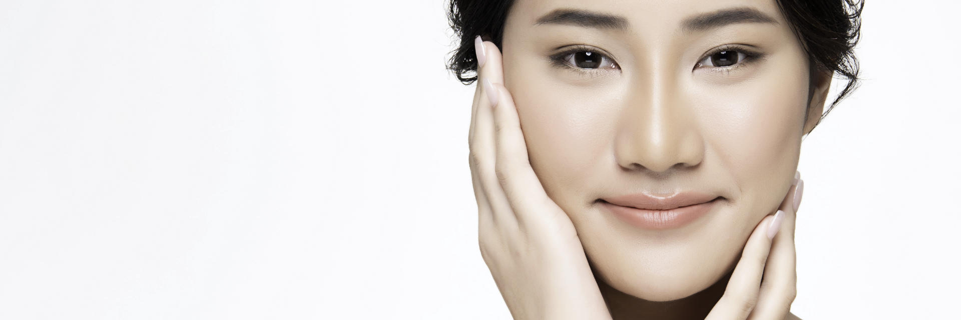 Face of an Asian Woman Considering Rhinoplasty