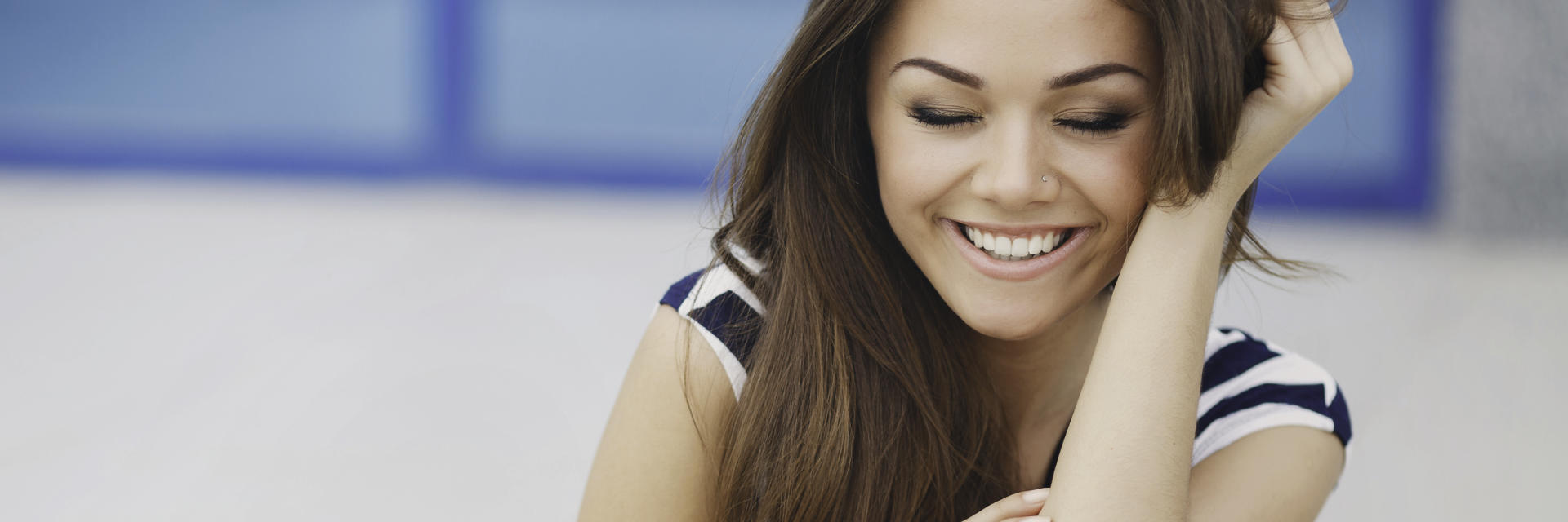 Happy Young Woman With Perfect Skin After Cosmetic Dermatology Treatment